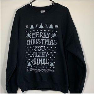EUC Christmas sweatshirt, size Large